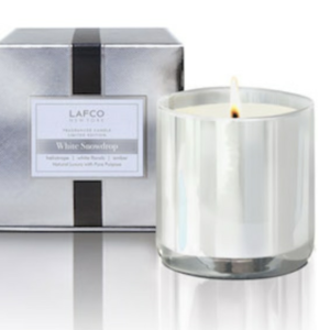 LAFCO LIMITED EDITION Classic White Snowdrop Candle