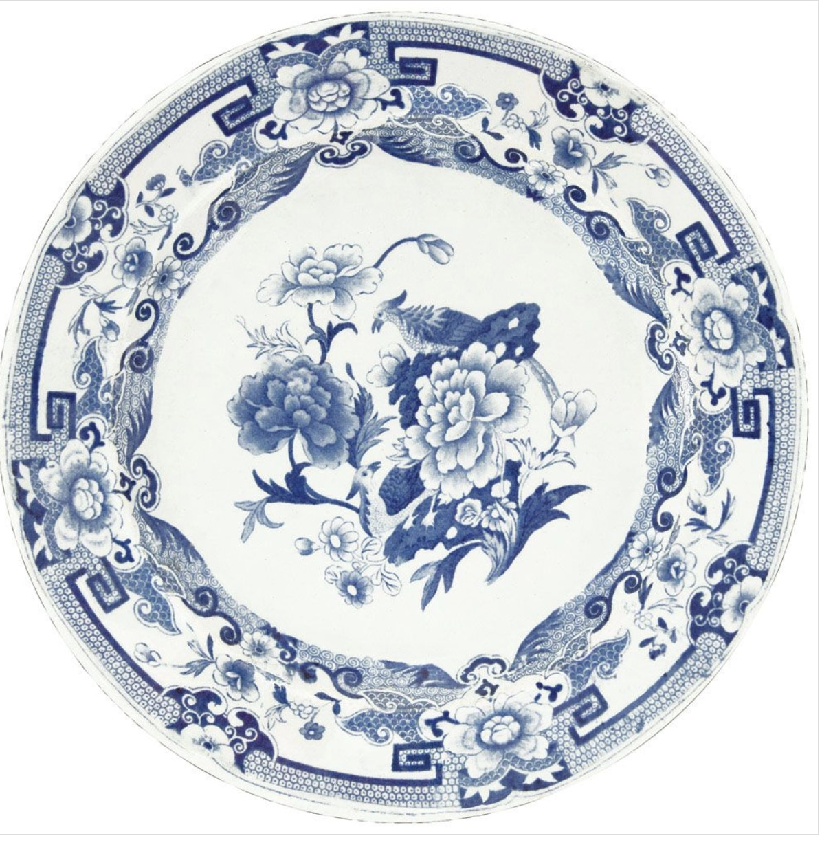 Blue & White Die Cut Placemat