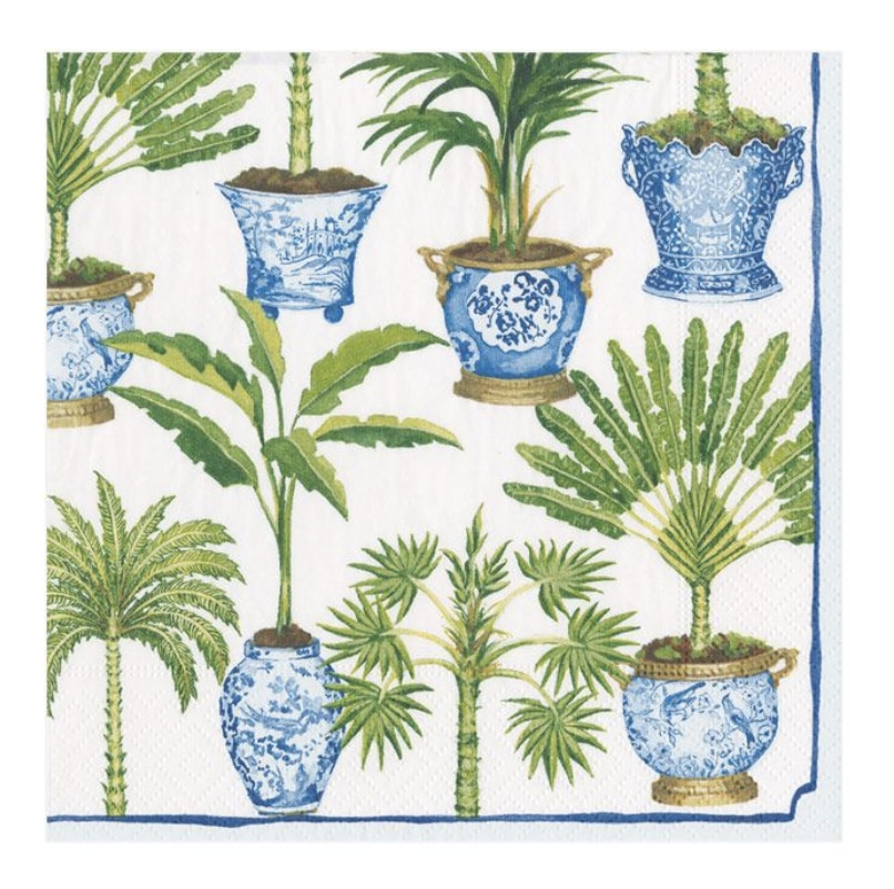 Potted Palms Paper Cocktail Napkins 20/Pk
